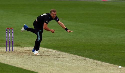 Tom Curran in action for England