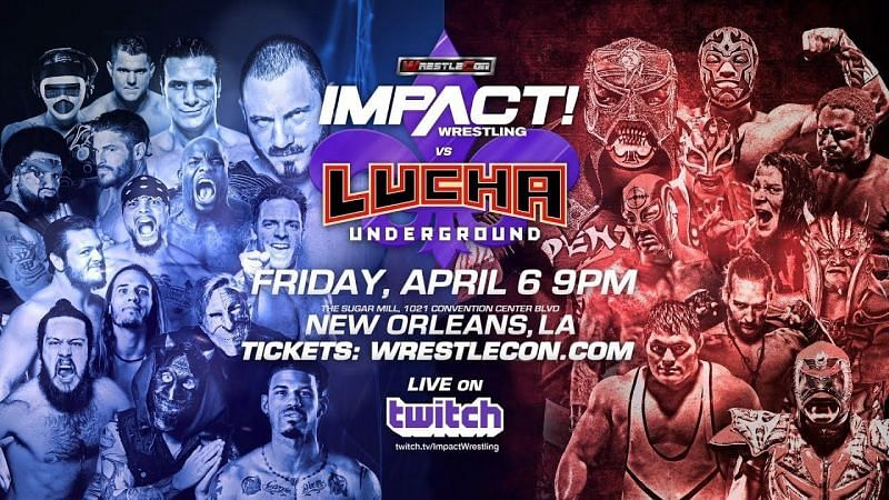 All of the results from Impact Wrestling vs Lucha Underground