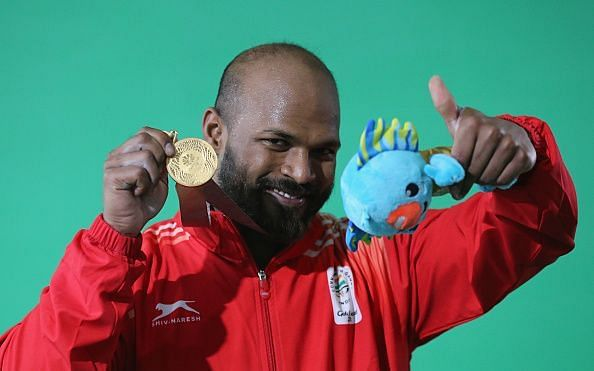 Sathish at his animated best after winning the gold medal for India in Men