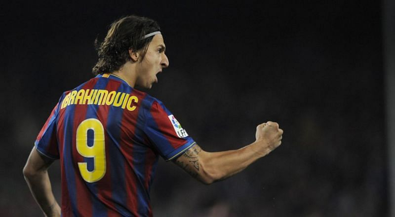 Zlatan played only one season at the Camp Nou