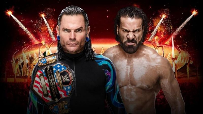 Jinder Mahal faced Jeff Hardy for the United States Championship