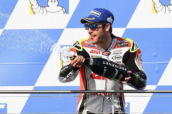 Cal Crutchlow after winning Argentina GP