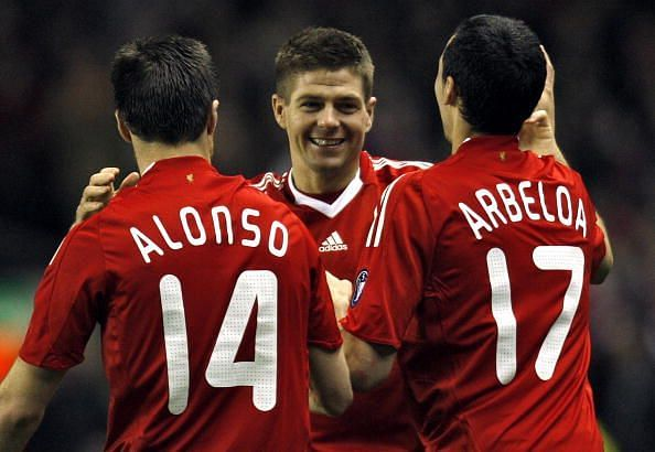 Alonso and Arbeloa played together for both Liverpool and Real Madrid