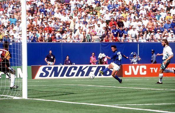 1994 World Cup Semi-Final. New Jersey, USA. 13th July, 1994. Italy 2 v Bulgaria 1. Italy