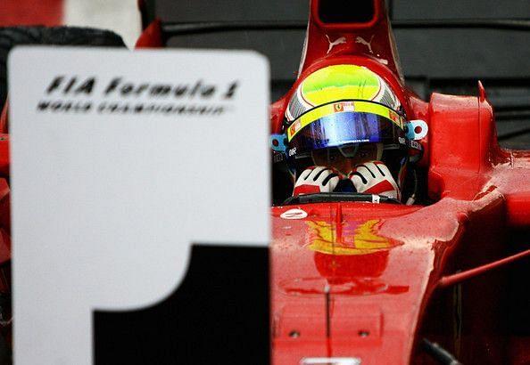The moment Felipe Massa realised what had just happened