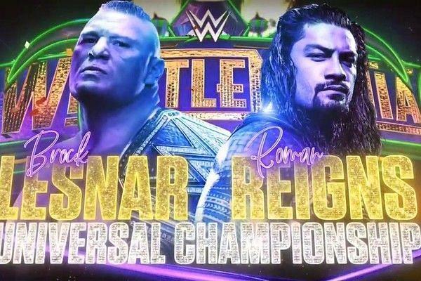 Roman Reigns, Brock Lesnar, WrestleMania 34,