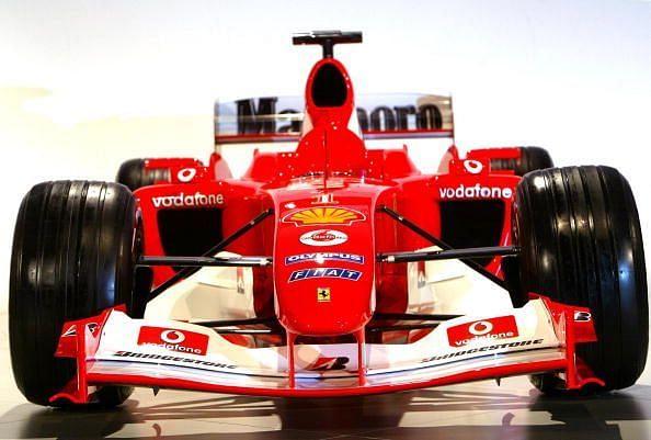 The new Ferrari car F2004 was unveiled b