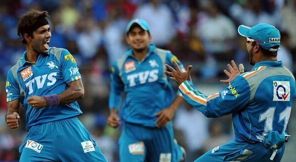 Pune Warriors India bowler Ashok Dinda (