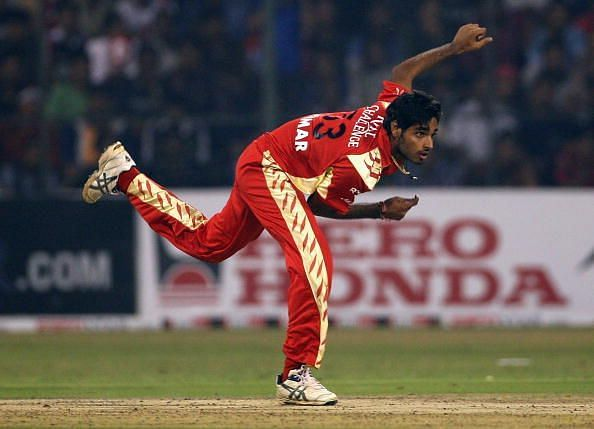 Bhuvneshwar Kumar played for RCB in the Champions League T20 tournament