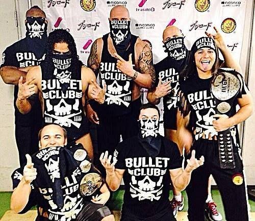 Finn Balor with the Bullet Club
