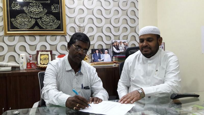 Raghu Nandi put pen to paper in favour of Mohammedan SC.