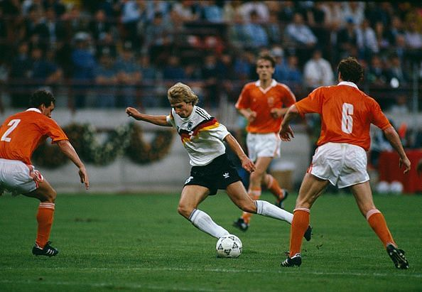 Jurgen Klinsmann Germany Netherlands 1990 World Cup
