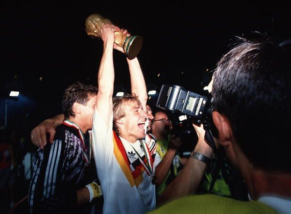 Jurgen Klinsmann Germany 1990 World Cup