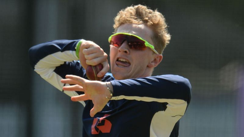 Spinner Dom Bess practices at Lord
