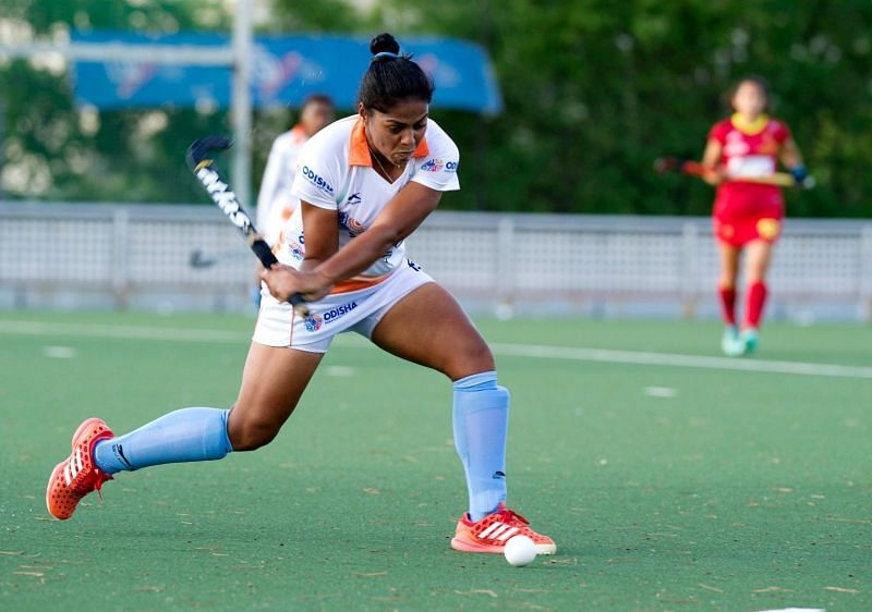 Deepika in action against Spain