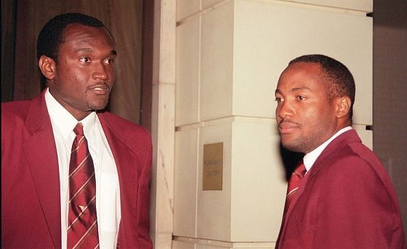 captain Brian Lara and vice-captain Carl Hooper stayed put at London and refused to travel to South Africa
