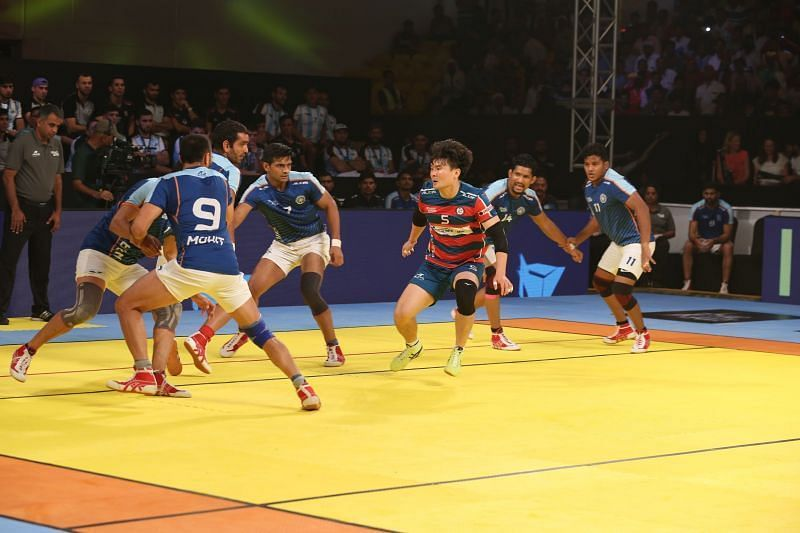 Korean raiders started on a promising note in the match