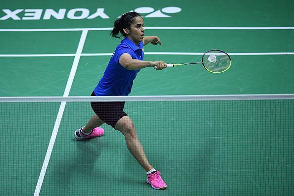 Saina Nehwal in action