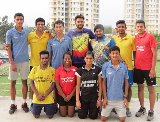 Members of the Indian Junior Badminton contingent