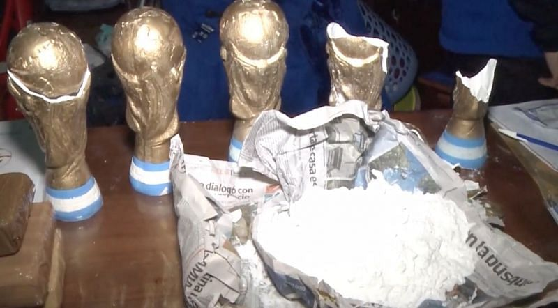 Reports 1 5kgs Of Drugs Found Hidden Inside World Cup Trophy Replicas