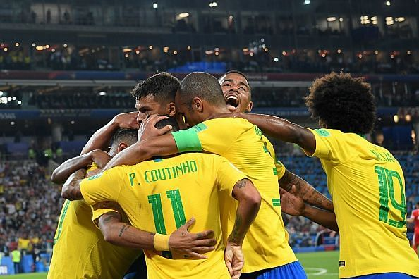 Brazil ran out 2-0 winners in the end to secure qualification to the next round