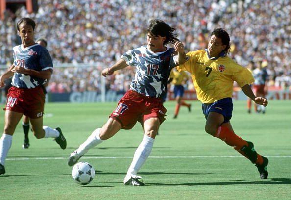 1994 World Cup Finals. Pasadena USA. 22nd June, 1994. USA 2 v Colombia 1. USA