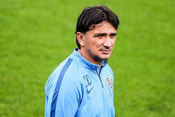 Team Croatia in training ahead of 2018 FIFA World Cup Final against France