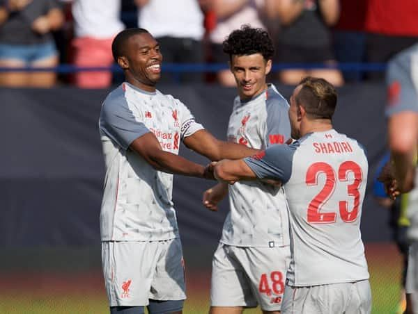 Liverpool defeated Manchester United by 4 goals to 1 in a friendly fixture