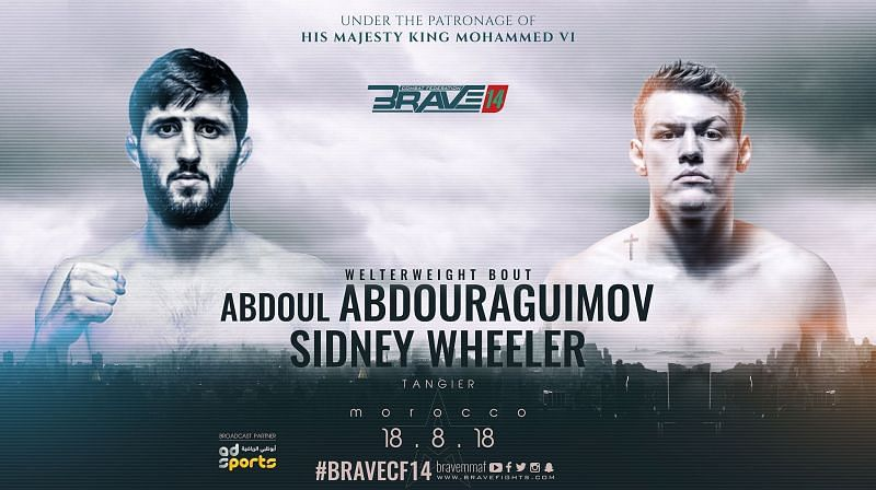 Official fight poster between Sidney Wheeler and Abdoul Abdoulraguimov