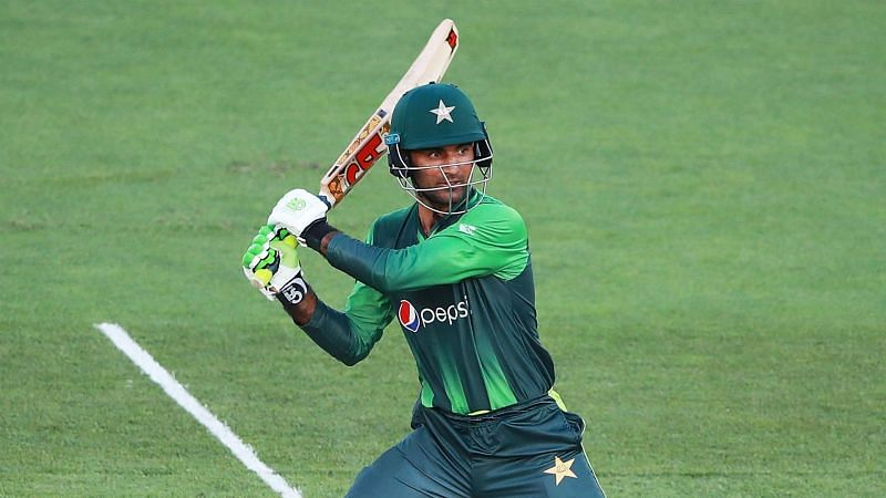 Fakhar Zaman batting for Pakistan