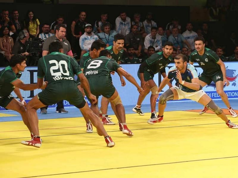 Ajay Thakur was one of the leading raiders in the contest