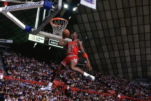 Chicago Bulls Michael Jordan, 1987 NBA Slam Dunk Contest