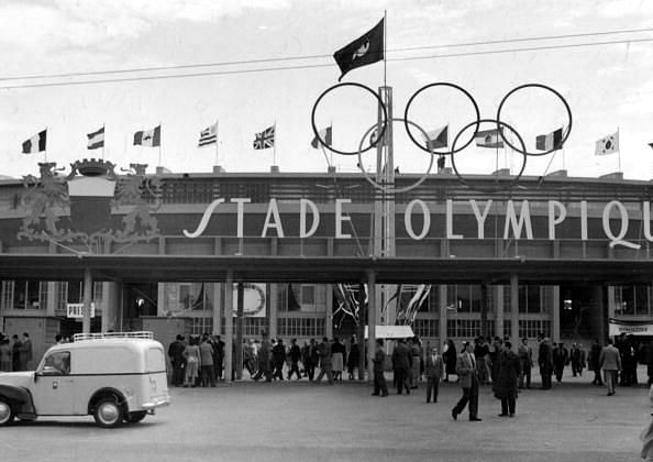 World Cup Finals, 1954 Switzerland. The Stade Olympique Stadium during the Finals.