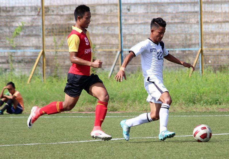East Bengal in an IFA Shield match against Mohammedan Sporting