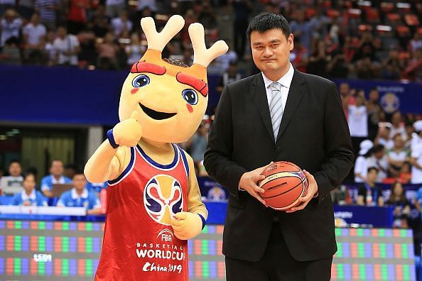 Yao Ming Attends 2019 FIBA Basketball World Cup Qualification In Shenzhen