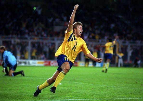 Sport, Football, pic: 17th June 1992, European Championship in Stockholm, Sweden 2 v England 0, Sweden