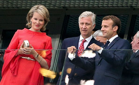 Celebrities Attend France v Belgium At 2018 World Cup