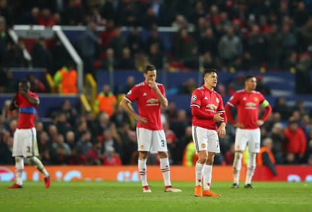 United face disappointment as Sevilla knock them out of the Uefa champions League