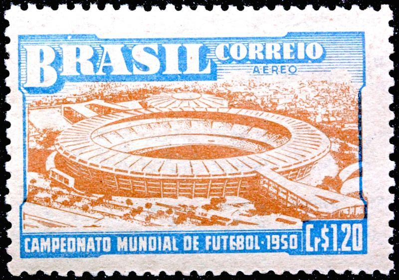 A 1950 Brazilian stamp promoting the tournament.