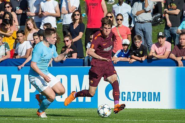 Manchester City v FC Barcelona - UEFA Youth League Semi Final