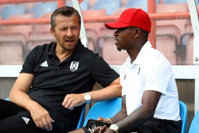 Seri with Fulham Manager Jokanovic