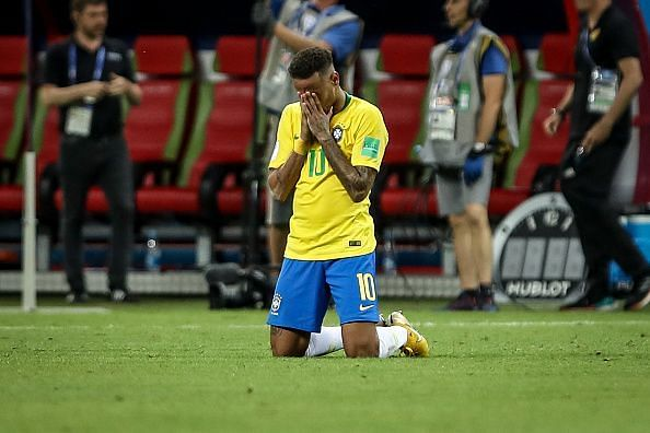 Neymar da Silva Santos Jr.  of Brasil  during the match...