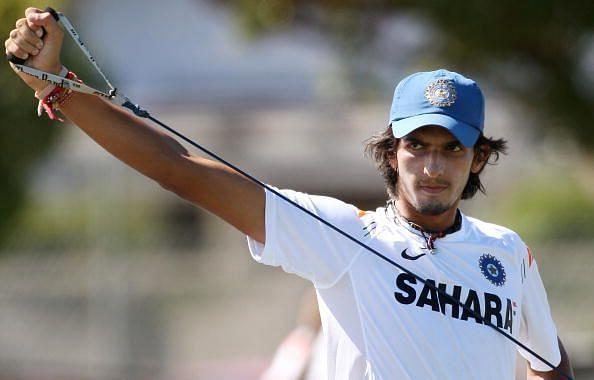 Indian player Ishant Sharma goes through
