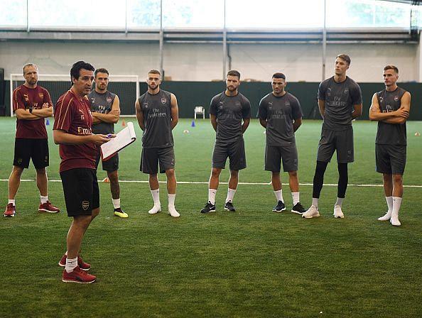 Arsenal Players Pre-Season Training Session