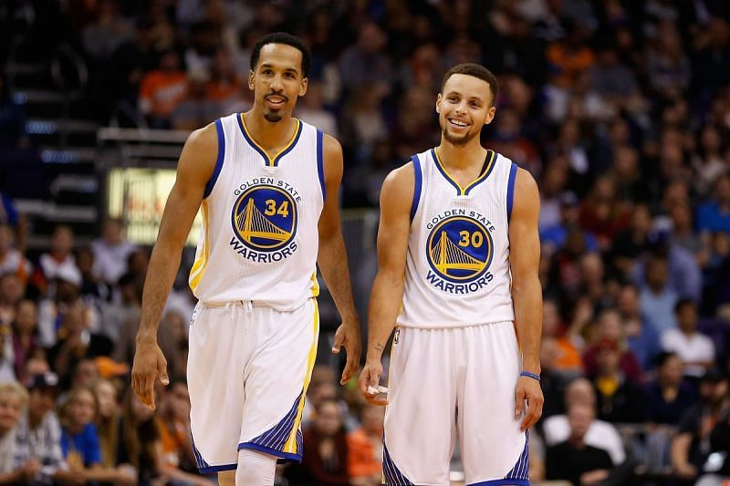 Stephen Curry and Shaun Livingston