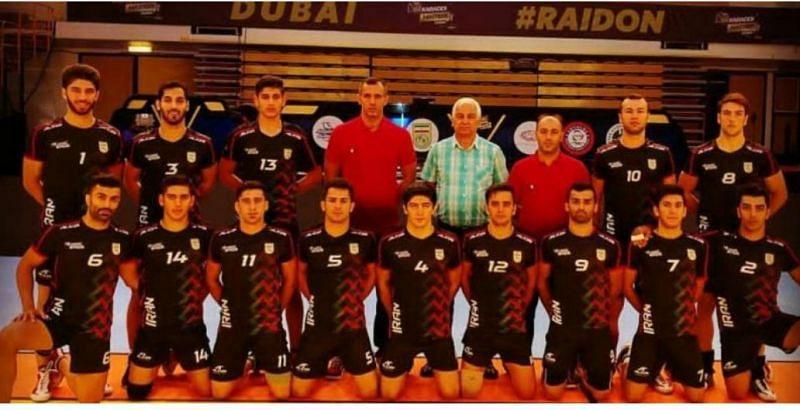 Iranian Kabaddi Team at the Dubai Kabaddi Masters 2018.