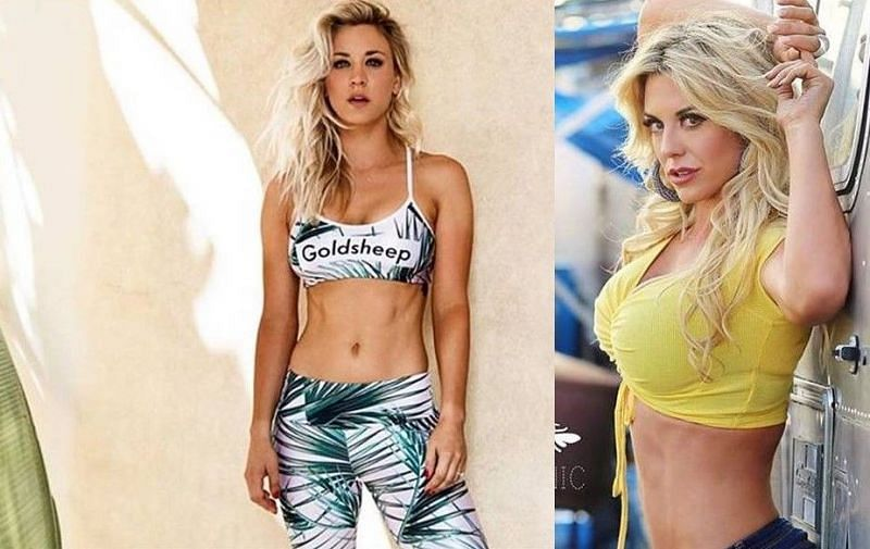 Kaley Cuoco and former WWE Superstar Taryn Terrell resemble one another