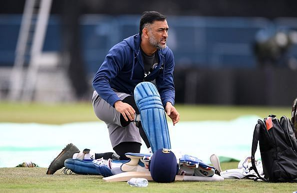 MS Dhoni during England & India Net Sessions