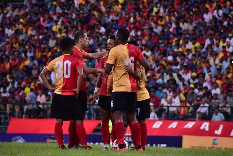 East Bengal are at the top of the league.