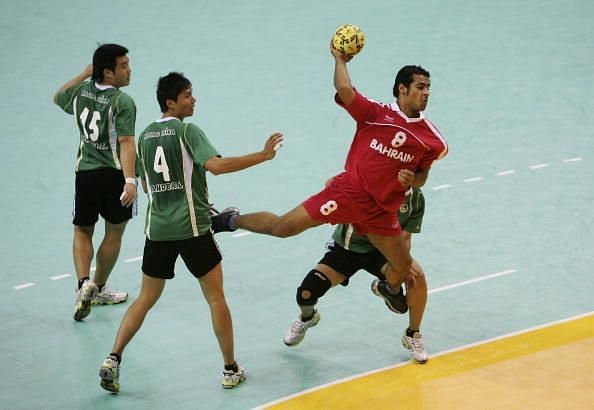 15th Asian Games Doha 2006 Handball: Bahrain v Macau, China